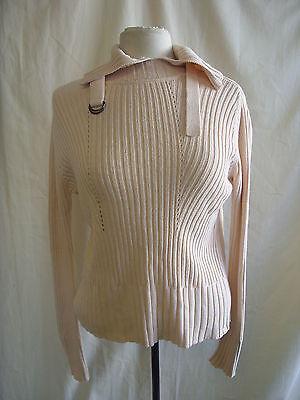 Ladies Jumper - Calvin Klein, size M, light peach, ribbed, stylish/cool - 7771