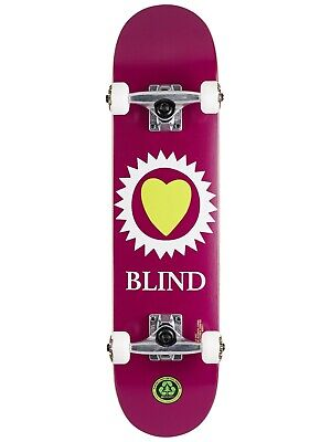 """Blind Heart Youth Maroon 7.0"""" First Push Skateboard Complete - Brand New!"""