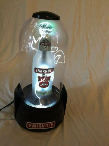 Smirnoff Ice Beer Bottle Plasma Lamp Bar Display Tempest Bar Glorifier Vodka