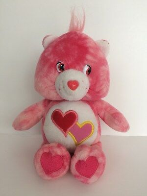 """8"""" CARE BEARS LOVE A LOT BEAR PINK HEARTS STUFFED ANIMAL PLUSH DOLL TOY 2003 for sale  Shipping to Canada"""