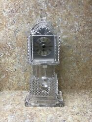 Crystal Legends by Godinger 24% Lead Crystal Crown Grandfather Clock