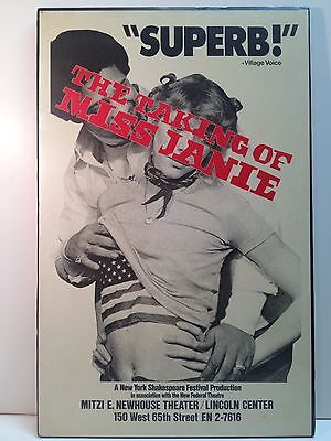 The Taking Of Miss Janie Theatre Broadway Play Original Poster