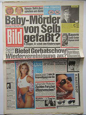 Bild Zeitung vom Dienstag den 12.05.1987, zum 30. Geburtstag