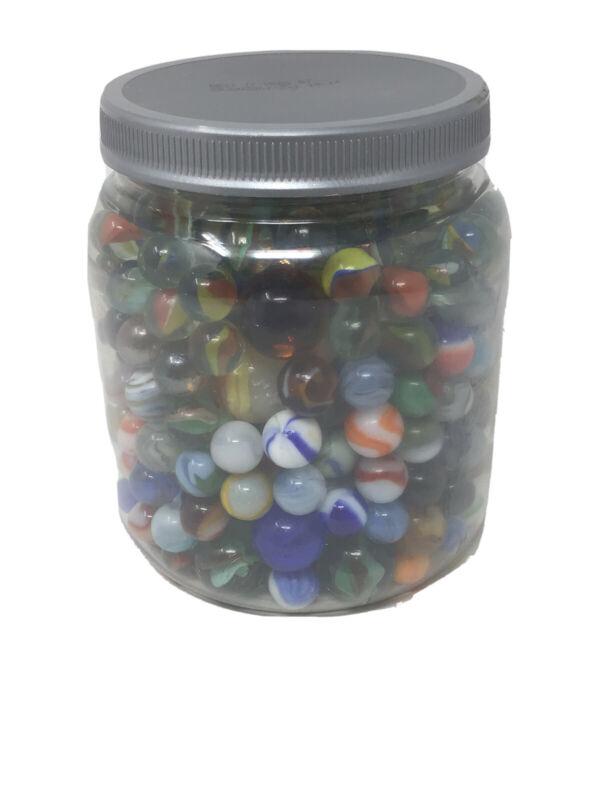 Vintage Antique Marbles Glass Agate Large Over Five Pound Lot Bundle