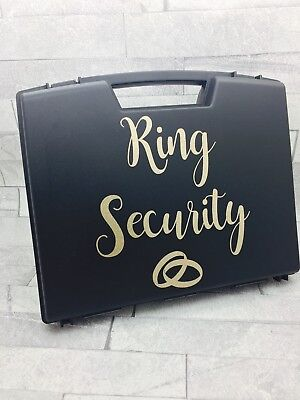 Ring Security Box Briefcase Glitter font ring pillow wedding ring box bearer - Ring Security Box