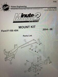 Fisher Plow Mounts / Brackets