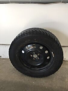 Set of 4 winter tires on rims 225/60/17