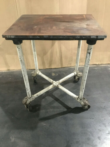 Vintage industrial heavy duty table