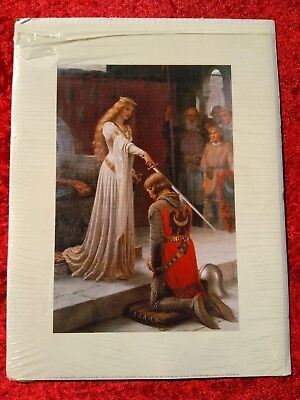 The Accolade by Edmund Leighton - Museum Collection - Art Print - Art Nouveau