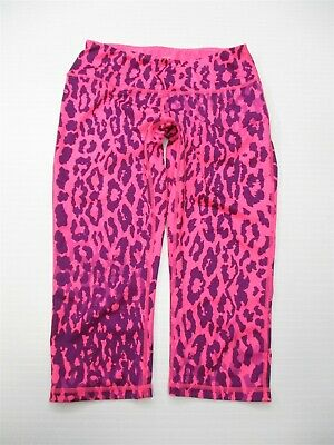ZELLA Capri Pants Women's Size S Active High Rise Leopard Print Pink/Purple
