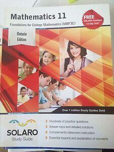 Mathematics 11 MBF3U solaro study guide