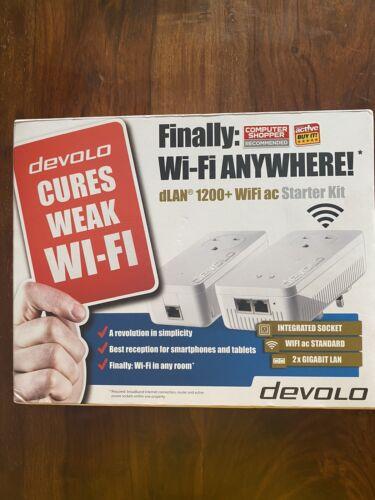 Devolo 9392 - Dlan Powerline 1200 Plus Wifi AC, Starter Kit UK NEW