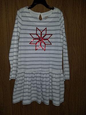 Gymboree Girl' Sparkle Snowflake Holiday Shop Striped Dress , Size 7(US)NWT (Girl Dress Shops)