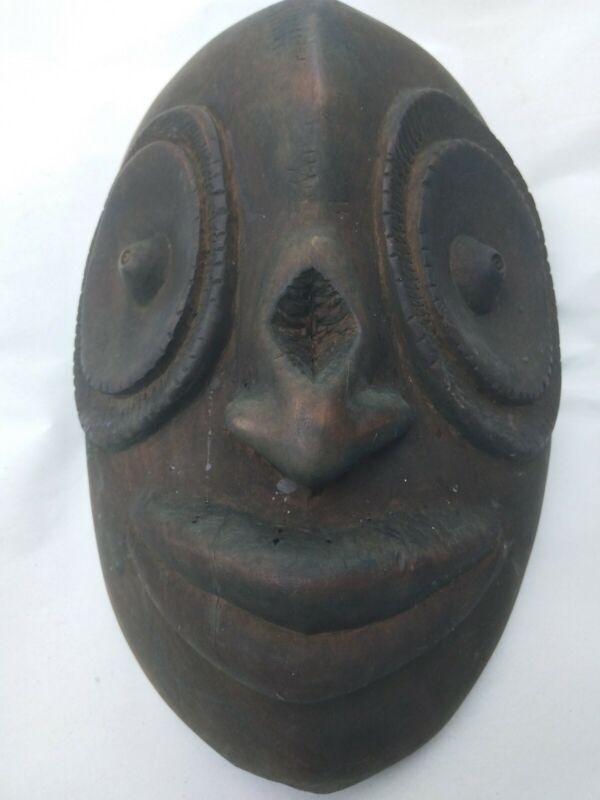 Antique Vtg Oceanic African South American era carved mask no color estate find