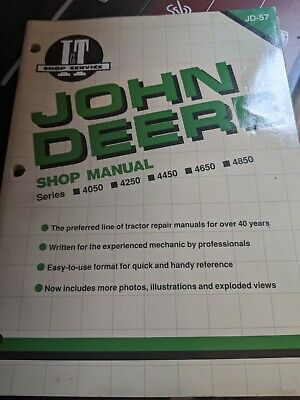It Shop Manual Collection Compatible With John Deere 4050 4450 4850 4250 4650