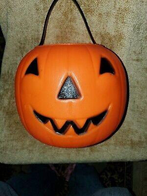 Vintage Empire Blow Mold Halloween Jack-o-Lantern Pumpkin Candy Bucket Pail