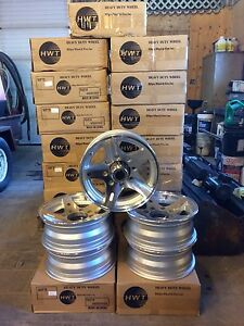 "NEW Aluminum 16"" 8 Bolt Trailer Rims"