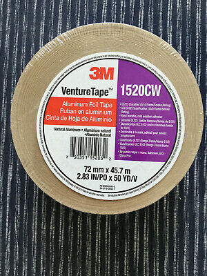 3m Venture Tape 1520cw Aluminum Foil Tape 2.83 X 50 Yds Made In Usa