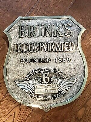 Early 1900s Brinks Security Large Cast Metal Meyer & Wenthe Building Sign Plaque