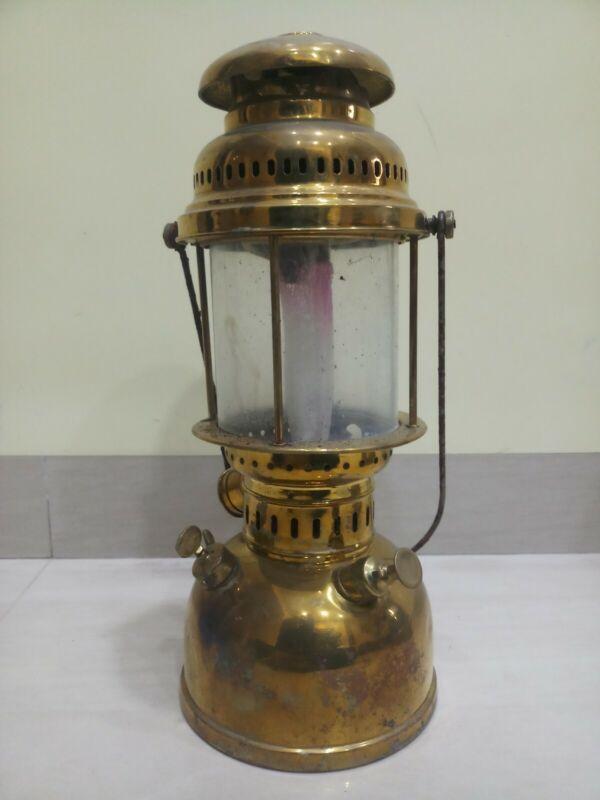 Vintage light oil kerosene Germany petromax brass lantern 450 CP steam punk