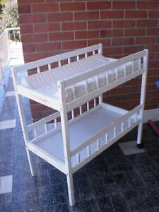 BABY ITEMS -- CHANGE TABLE, COTS, PRAM STROLLER, HIGH CHAIRS, WALKERS