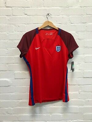 Nike England Football Women's 2016 Euro Away Shirt - XL - Red - New
