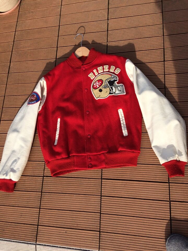 49ers San Francisco Forty Niners NFL College Jacke rot weiß Gr. L
