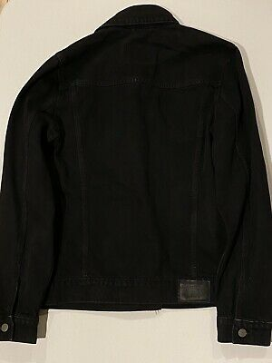 $110 Retail Abercrombie & Fitch Mens Black Jean Jacket Size Medium Brand New