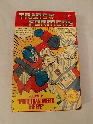 TRANSFORMERS Volume 1 'More Than Meets The Eye' VHS Tape in Original Package