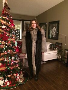 Mink/Fox Full Length Fur Coat