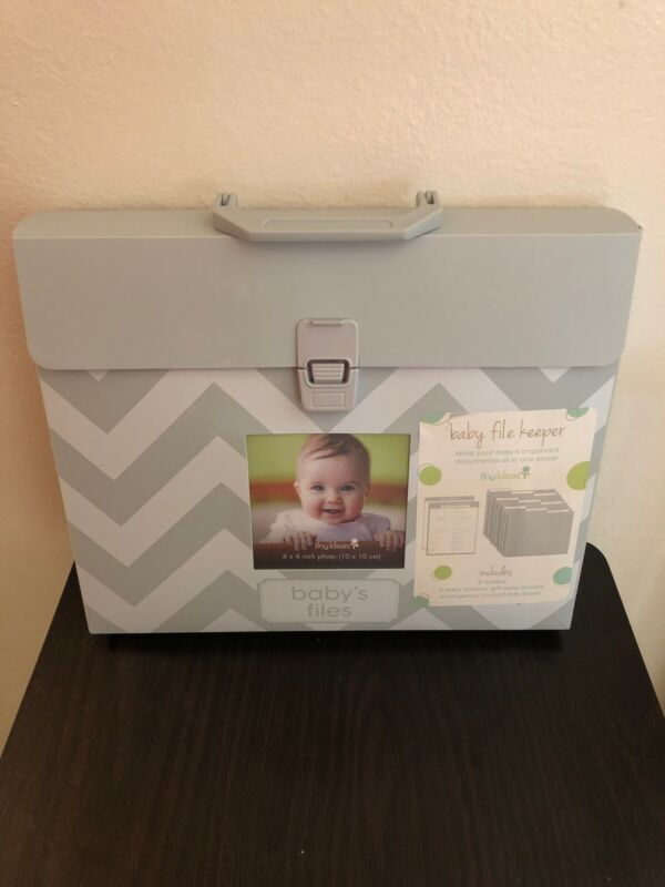 Tiny Ideas Baby File Keeper With Baby Information Folders