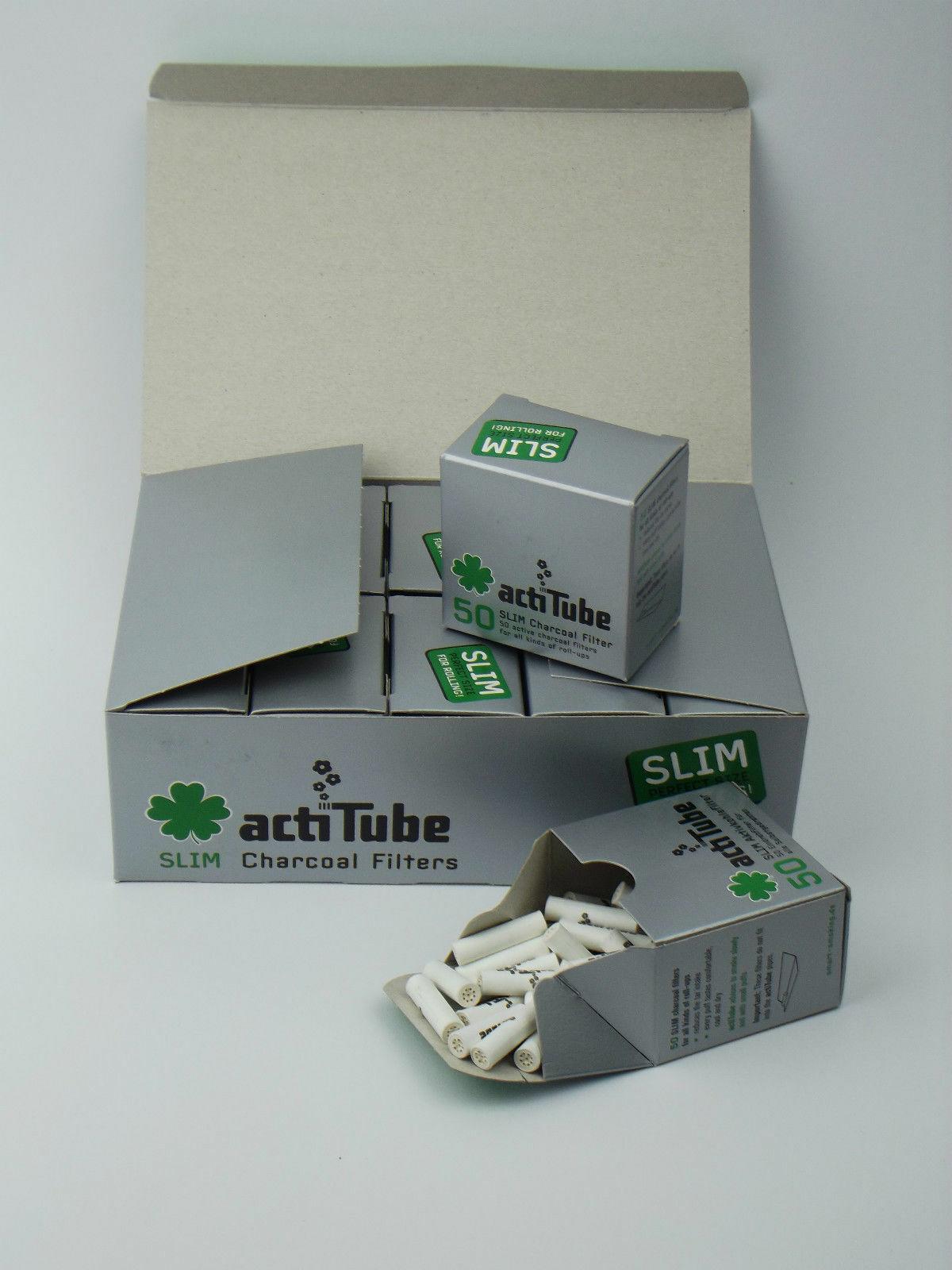actiTube Aktivkohle Filter Slim 7mm 4x50 (200Stück)