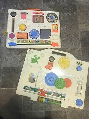 Vintage Fisher Price & Playskool Activity Center Busy Box Baby Infant Toys 1970