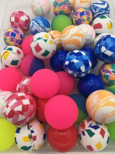 "40 Balls 49mm 2"" Super Bouncy Balls Vending Prizes Large High Bounce Superballs"