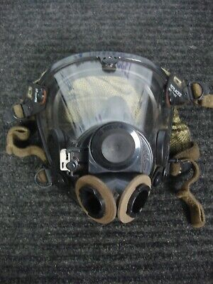 Scott Av2000 Scba Full Mask Facepiece Respirator With Twin Filter Adapter Large