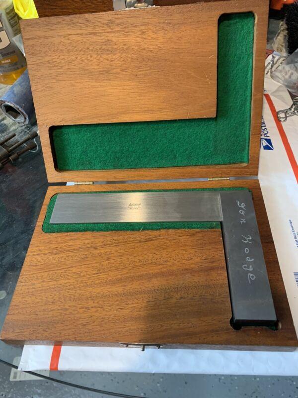 """Lufkin 166 Solid 6"""" Square w/ Half Case - vintage usa fixed precision 166-6"""