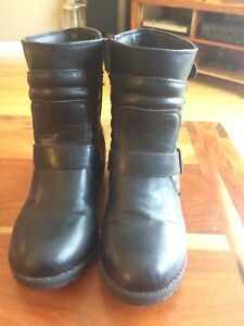 Girls Nine West Biker/Moto Boots - size 2