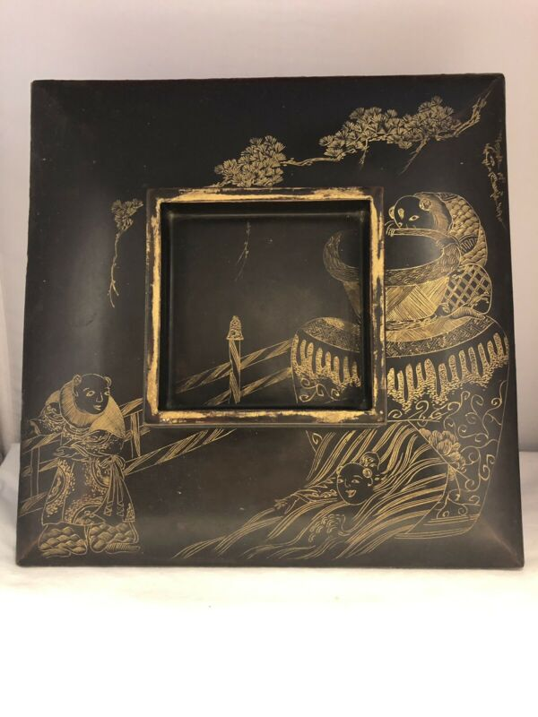Japanese Maki-e Lacquered Lacquer Meiji Period Large Box