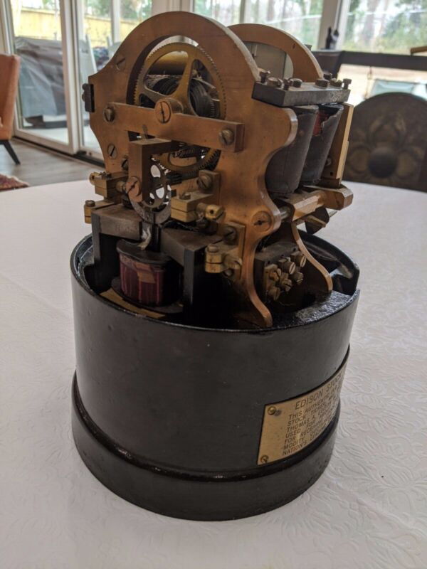 Antique Edison Stock Ticker Machine