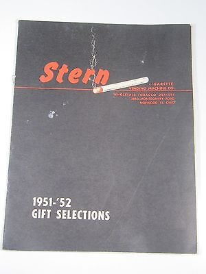 Stern: Cigarette Vending Machine Co.- 1951-'52 Gift Selections Booklet