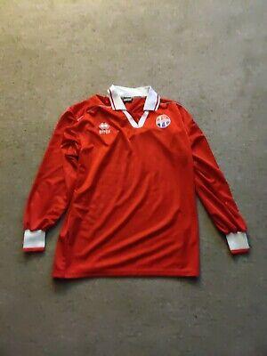 early 1990s Errea SV Hoofddorp Soccer Jersey Red Long Sleeve Menas medium image
