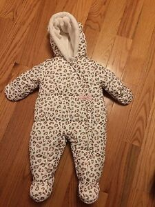 0-3 month baby girl snowsuit.