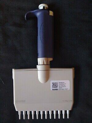 Rainin Pipet-lite Lts L10 Multi 12 Channel Pipette Pipettor 1-10 Ul 1-10l