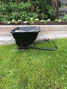 12 Volt Seed/ fertilizer spreader for ATV, never used