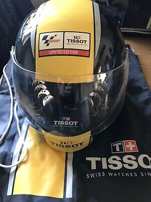 TISSOT MOTO GP 2008 Limited Edition Watch. T-Race Rossi Years. Full Helmet Set.