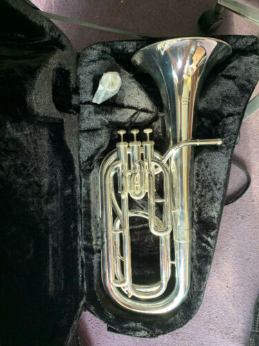 Baritone Horn Elkhart 100BHS silver plated A1 condition