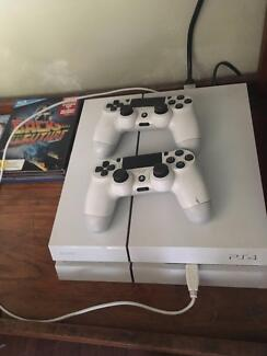 Playstation 4 and 2 controllers