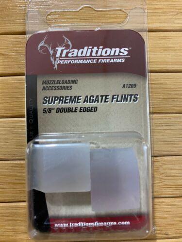 "Traditions Muzzleloader Supreme 5/8"" Double Edge Agate Flints , Item # A-1209"