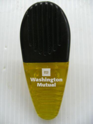 Washington Mutual WAMU Yellow Refrigerator Magnet Memo Recipe Chip Clip