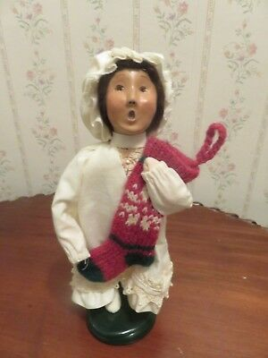 Byers Choice Caroler - Girl Wearing Nightgown/Holding a Stocking - 2000